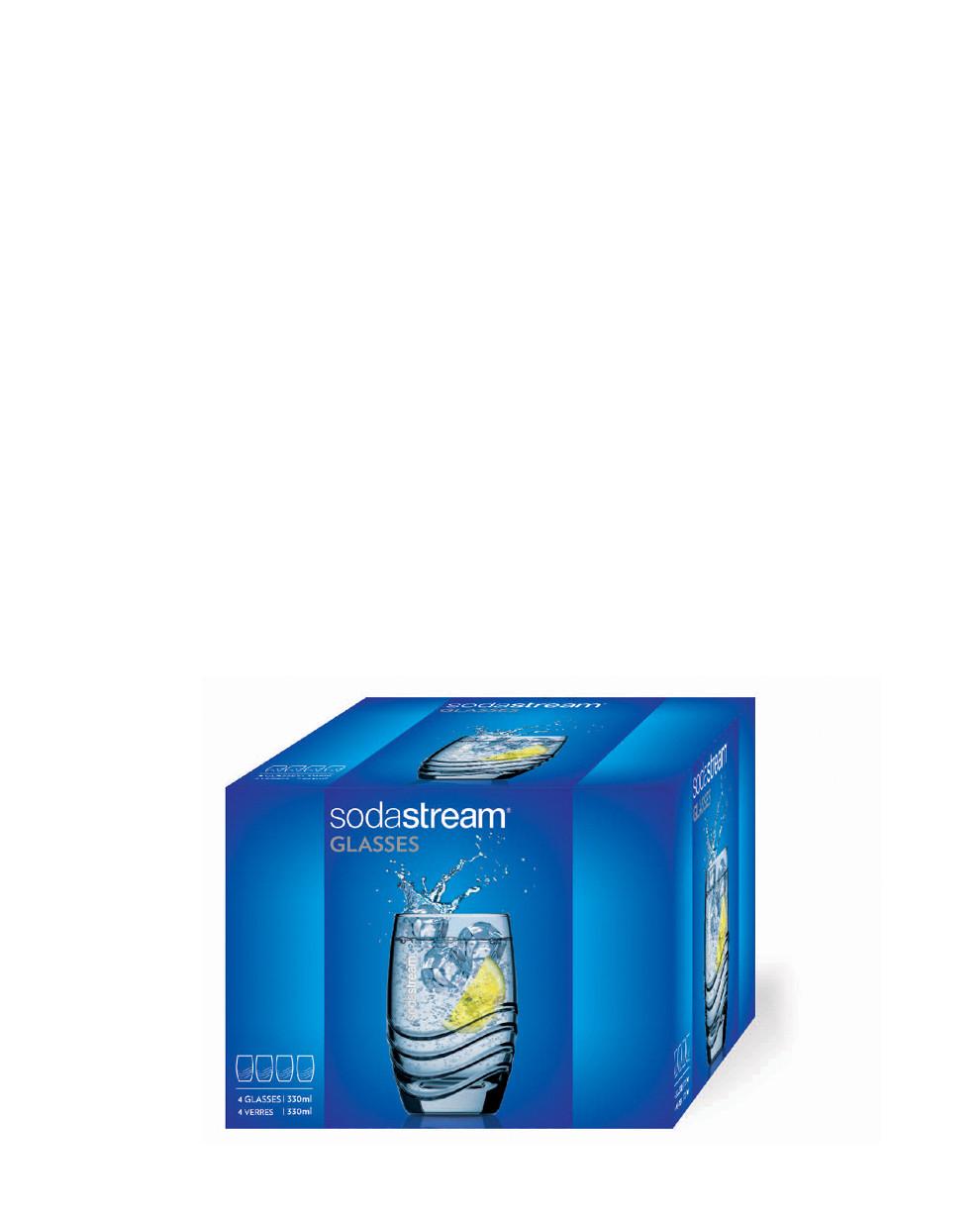 Bicchieri in Vetro per Gasatore Crystal SodaStream
