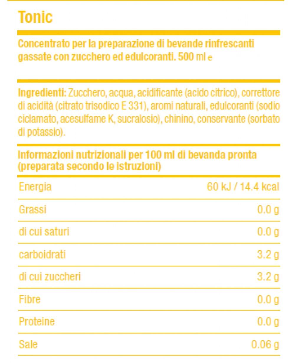 Valori Nutrizionali Concentrato SodaStream Tonic