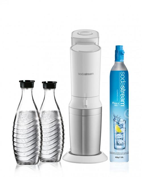 SodaStream Gasatore Crystal Megapack Bianco
