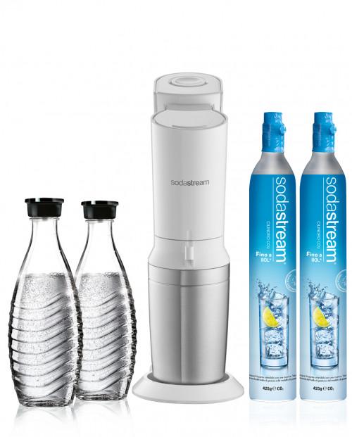 SodaStream Gasatore Crystal Mega Stock Bianco